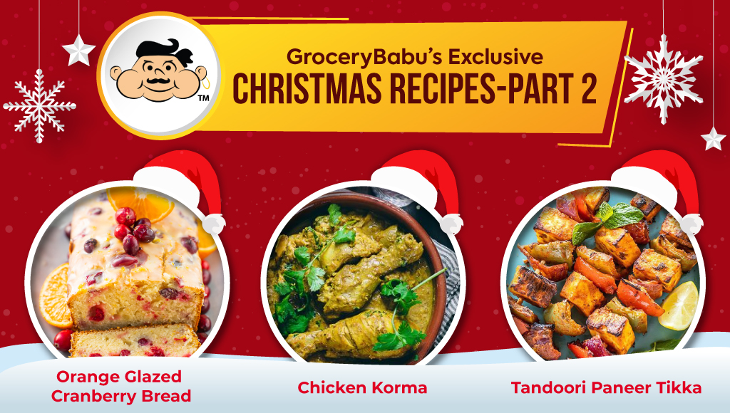 GroceryBabu's Exclusive Christmas Recipes - Part 2