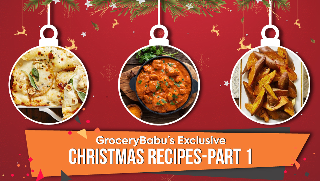 GroceryBabu's Exclusive Christmas Recipes - Part 1
